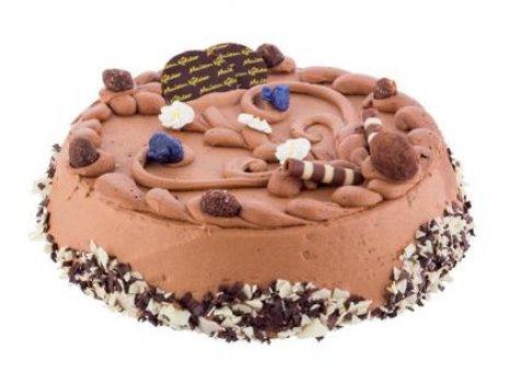 Zachte chocolade cake taart