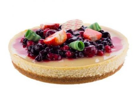 Cheesecake met seizoensvruchten 6 -8 personen