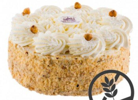 Hazelnootslagroom taart