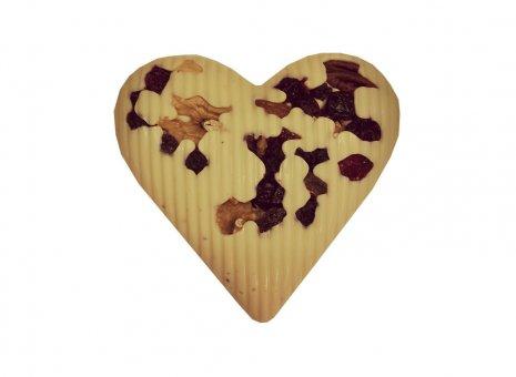 Chocolade hart wit
