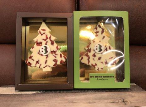 Chocolade kerstboompjes gojibessen