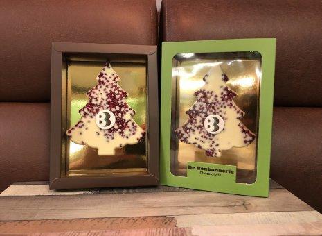 Chocolade kerstboompje aardbeien frizzle