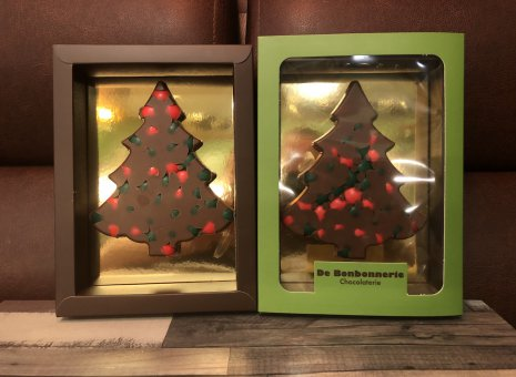 Chocolade kerstboompje melk