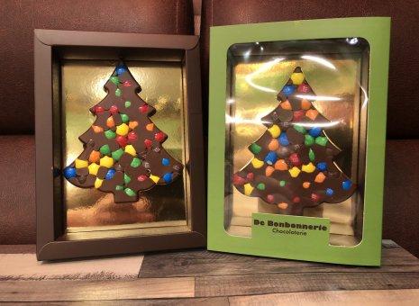 Chocolade kerstboompje melk m&m's