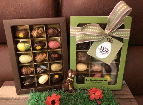 Doosje chocolade paaseitjes