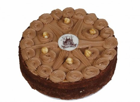 Hazelnoot chocolade taart (Maison Kelder)