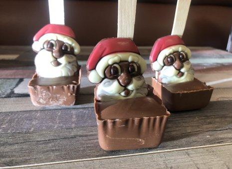 Hot chocolate stick santa.