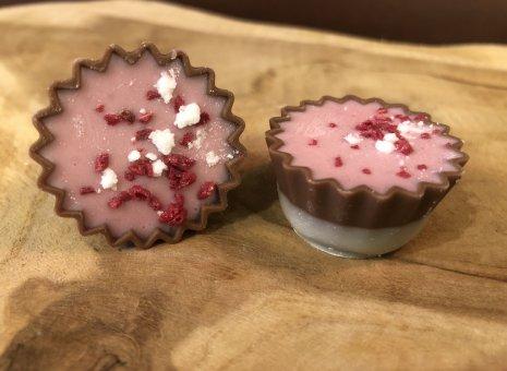 Frambozen chocolade cupcake