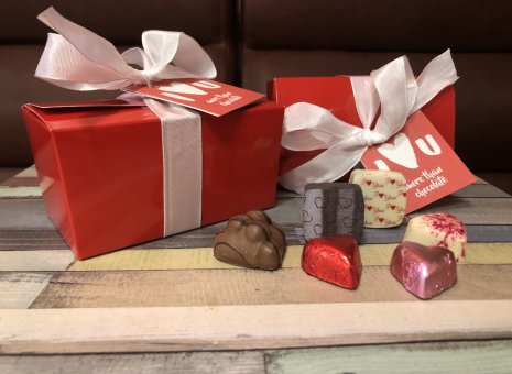 Doosje i love you more than chocolate (500 gram)