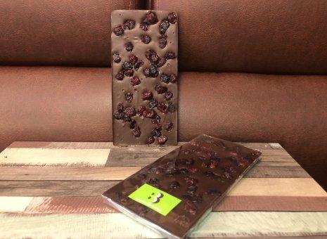 Chocolate bar puur met cranberrys