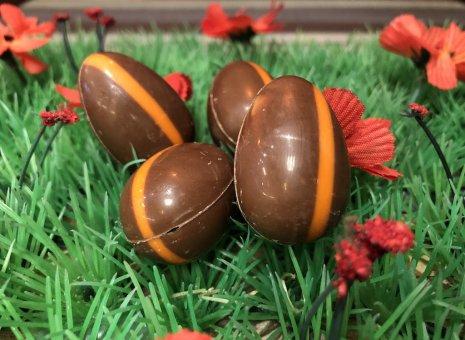 Chocolade paas eitje met kaneel