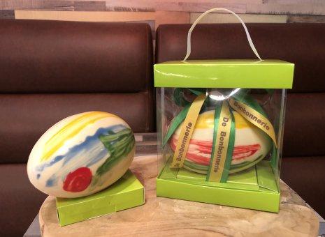 Handgeschilderd chocolade paasei
