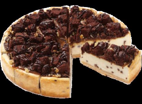 Caramel brownie cheesecake