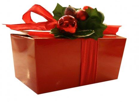 kerst doosje rood.
